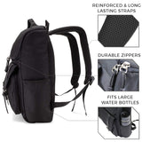 Vintage Canvas Laptop Backpack (Black)