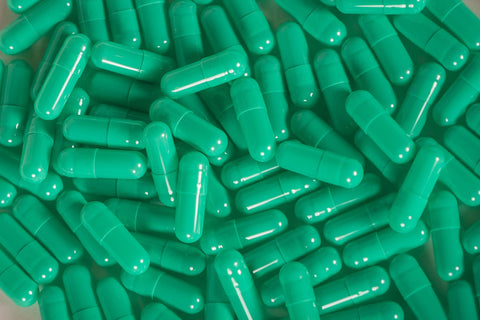 Gelatin Size 4, Light Green Colour, Capsules