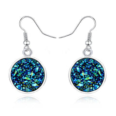 Druzy Blue Drop earring