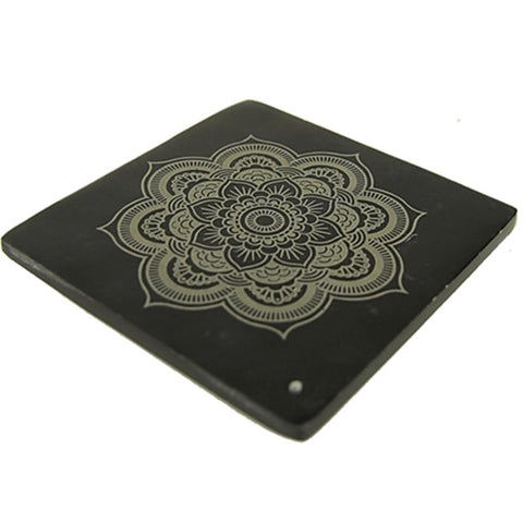 Incense Burner Black with Mandala