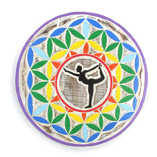 Wooden Yoga Pose Plaque