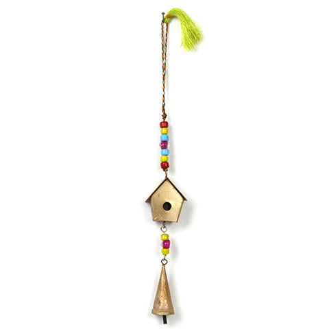 Hanging Little Birdhouse with bell decoration