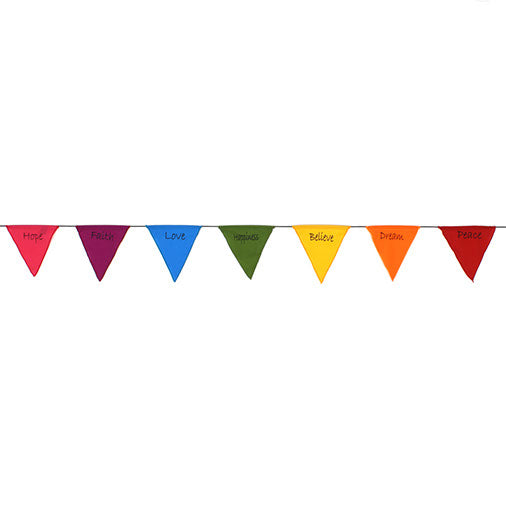 Hanging Multitcoloured Affirmation Bunting