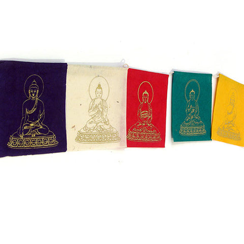 Pancha Buddha Paper Prayer Flags