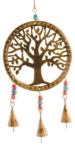 Hanging Tree of Life Windchime with bells