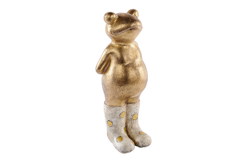 Gold Frog in Welly boots