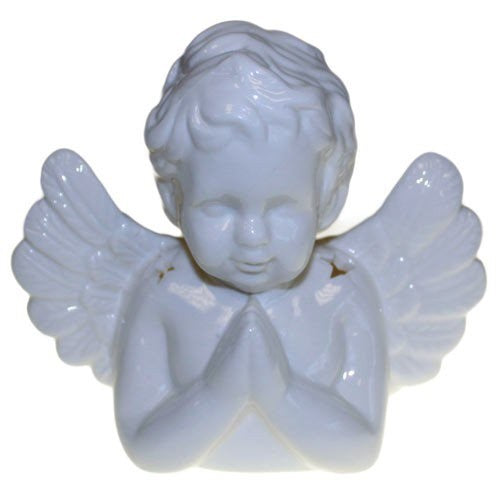 Ceramic White Angel Oil Burner.  15 cm
