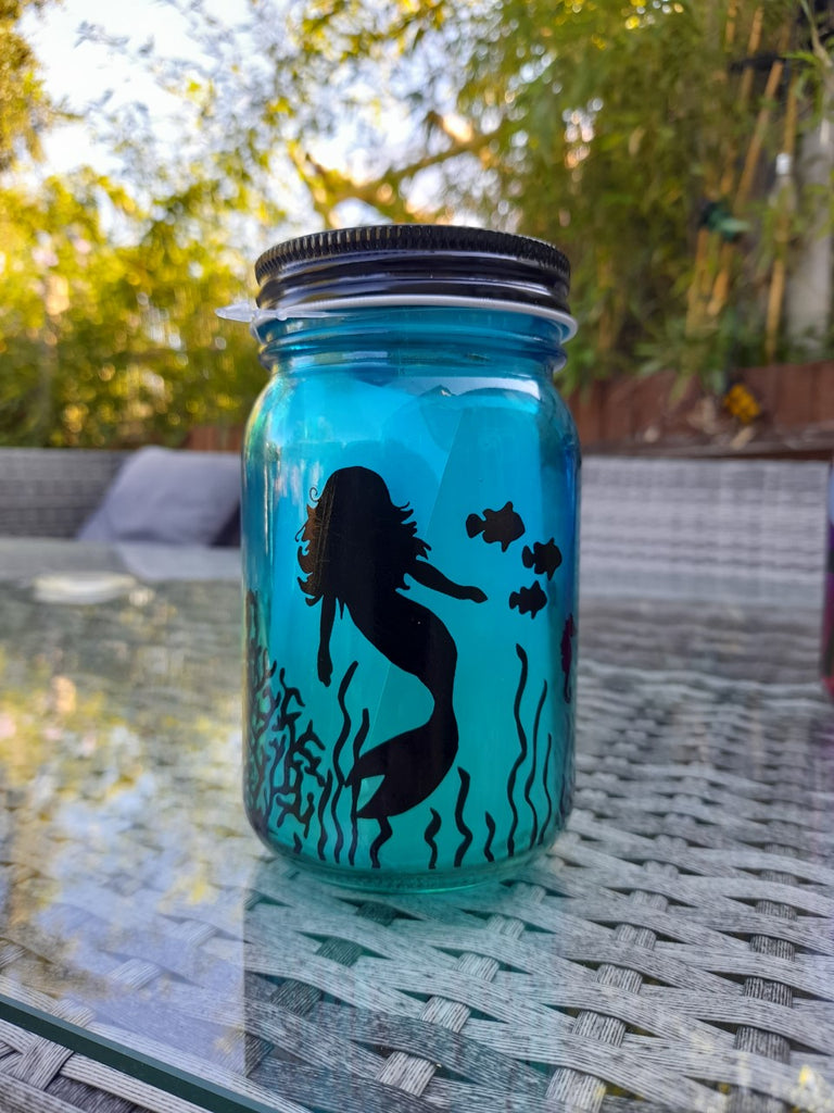 Mermaid Led Jar Light
