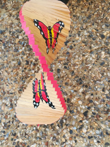 Hanging Wooden Butterfly Spinner