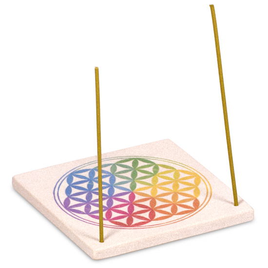 Sandstone Flower of Life Incense Holder