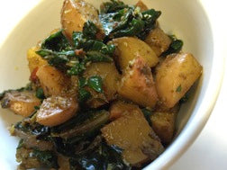 Matcha Chai Potato and Silverbeet Curry