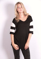 Don't Mesh with the Best Top - Black/Ivory - Worn & Raised  - 2