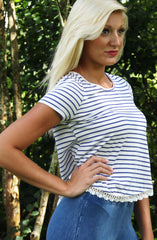 Ashley Top - White - Worn & Raised  - 3