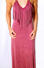 Seminole Chic Dress - Light Maroon - Worn & Raised  - 2