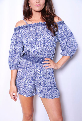 Blue for You Romper - Blue