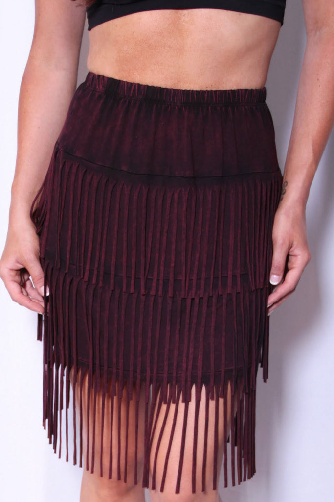 Wine Not Skirt - Deep Wine - Worn & Raised  - 1
