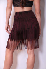 Wine Not Skirt - Deep Wine - Worn & Raised  - 3