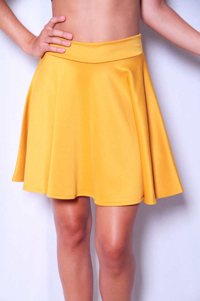 Rah Rah Ready Skirt - Mustard - Worn & Raised  - 1