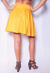 Rah Rah Ready Skirt - Mustard - Worn & Raised  - 3