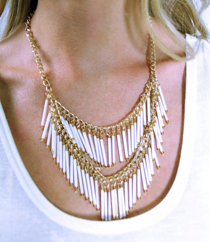 Fringe Necklace - Gold