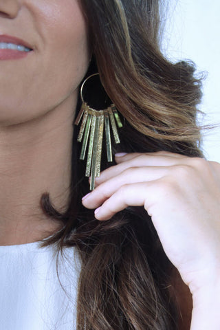 Drop Bar Dangle Earrings - Gold