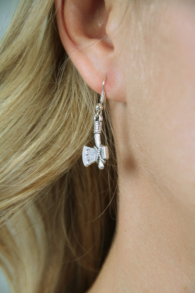 Tomahawk Earrings - Silver - Worn & Raised
