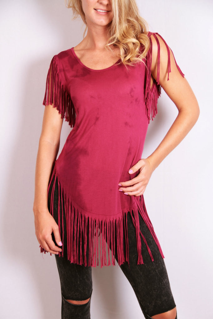 Unconquered Top - Maroon - Worn & Raised