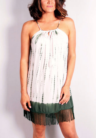 Foreverglades Dress - White/Green