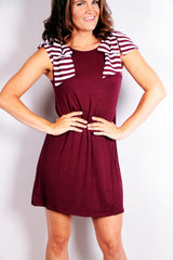Pep Squad Dress - Garnet - Worn & Raised  - 2