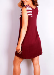 Pep Squad Dress - Garnet - Worn & Raised  - 3