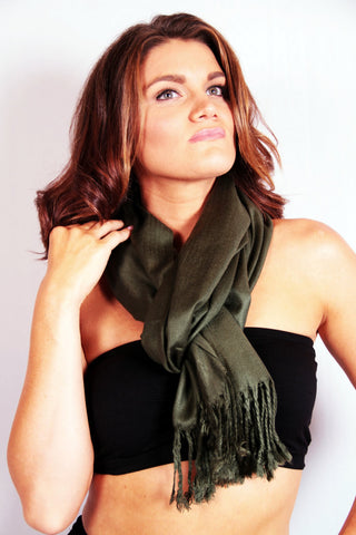 Luxe Pashmina Scarf - Green