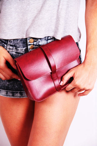 Crossbody Purse - Burgundy