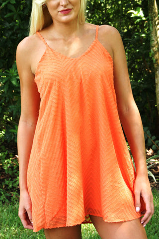 Not So Fast Dress - Orange