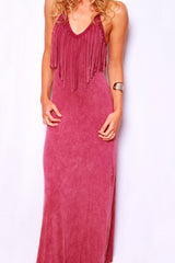 Seminole Chic Dress - Light Maroon - Worn & Raised  - 3