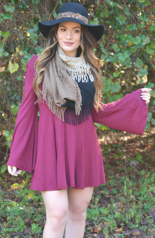 Home Sweet Home Dress - Burgundy