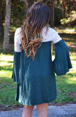 Belles and Whistles Dress - Emerald - Worn & Raised  - 3