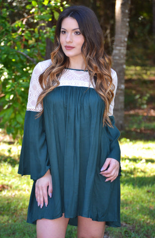 Belles and Whistles Dress - Emerald