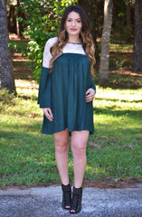Belles and Whistles Dress - Emerald - Worn & Raised  - 2