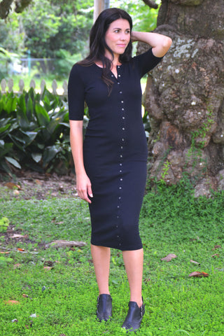 Tall Drink of Water Dress - Black