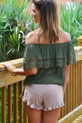 Over the Taupe Shorts - Taupe - Worn & Raised  - 2