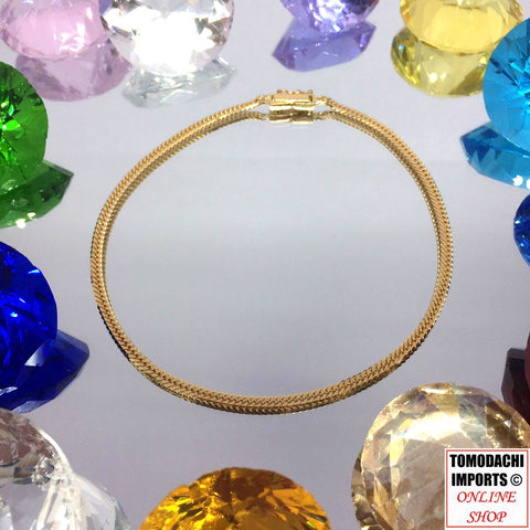 18K Japan Yellow Gold 6cut 5g Anklet