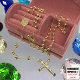 18k Japan Yellow Gold Rosary Necklace