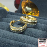 18k Japan Gold Two Tone Hoop Earrings