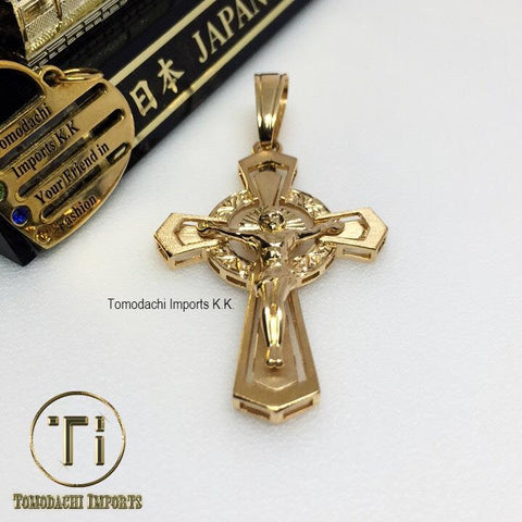 18k Japan Yellow Gold Bold Cross Pendant