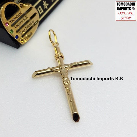 18k Japan Yellow Gold Large Cross Pendant