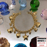 18K Japan Yellow Gold Charm Bracelet