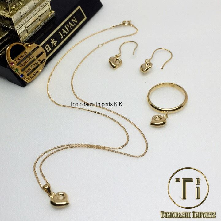 18K Japan Yellow Gold Mini Monaka Heart Set