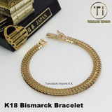 18K Japan Yellow Gold Bizmarck Bracelet