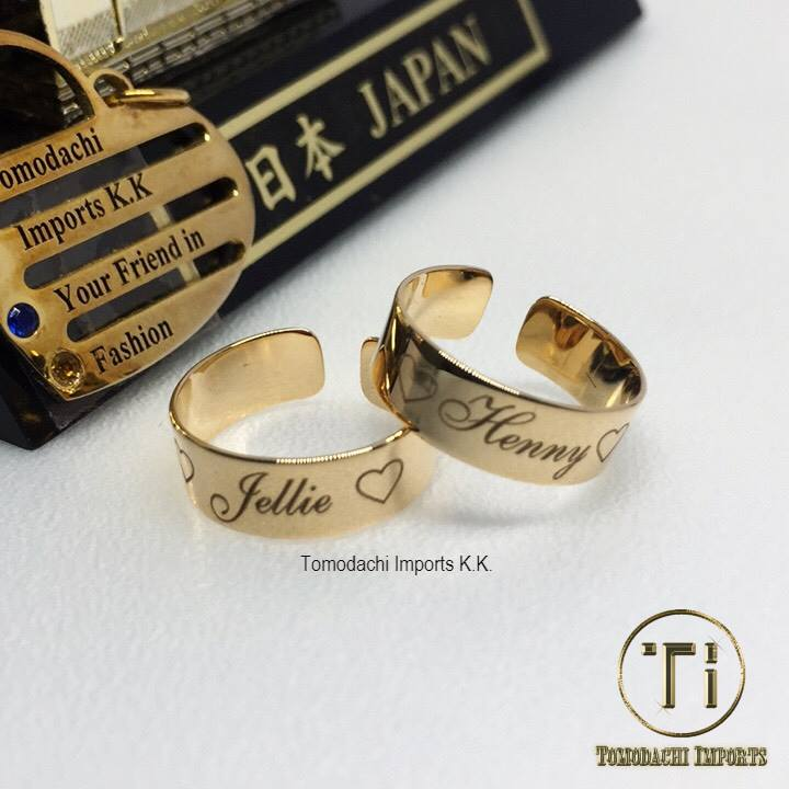 18k Japan Yellow Gold Personalized Toe Ring