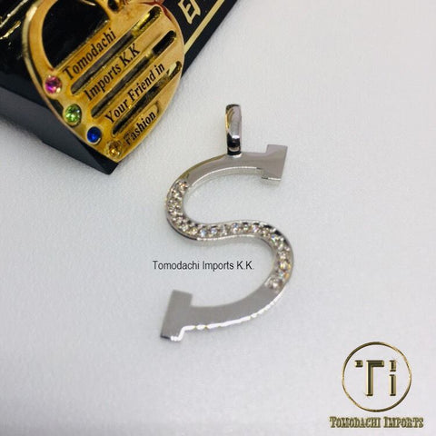 Japan Platinum PT900 Initial Top Pendant - S